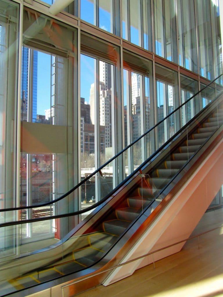 Escalator Chicago Museum of Art